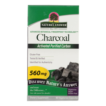 Nature's Answer - Charcoal - Activated Purified - 90 Softgels