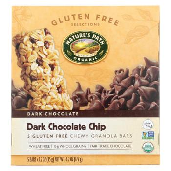 Nature's Path Organic Granola Bar - Dark Chocolate Chip - Case Of 6 - 6.2 Oz.