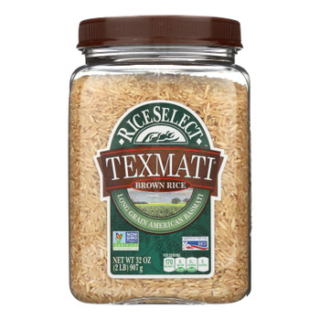 Rice Select Texmati Rice - Brown - Case Of 4 - 32 Oz.