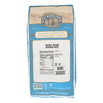 Lundberg Family Farms Brown Short Grain Rice - Case Of 25 Lbs