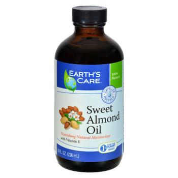 Earth's Care 100% Pure Sweet Almond Oil - 8 Fl Oz