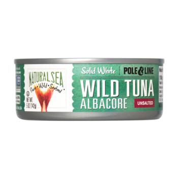 Natural Sea Wild Albacore Tuna, Unsalted, Solid White - Case Of 12 - 5 Oz
