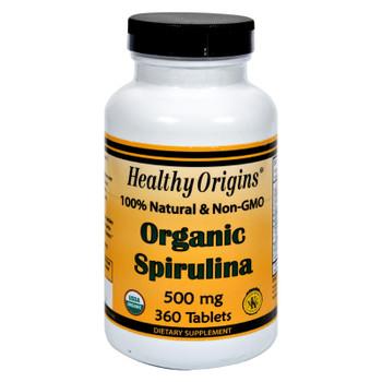 Healthy Origins Organic Spirulina - 500 Mg - 360 Ct