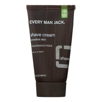 Every Man Jack Shave Cream Fragrance Free - Shave Cream - 1 Fl Oz.