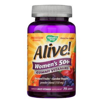 Nature's Way - Alive! Women's Multi-vitamin Gummies - 50 Plus - 75 Gummies