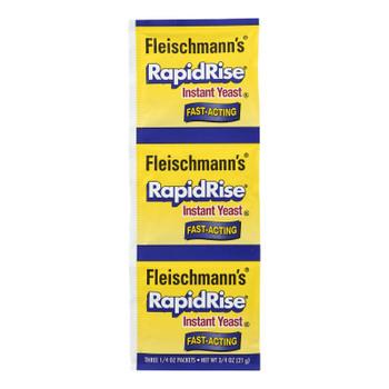 Fleischmann's Classic Yeast - Rapidrise - 3 Packets - .75 Oz - Case Of 20