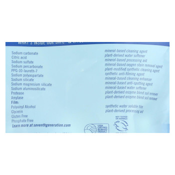 Seventh Generation Auto Dish Packs - Free And Clear - 20 Count