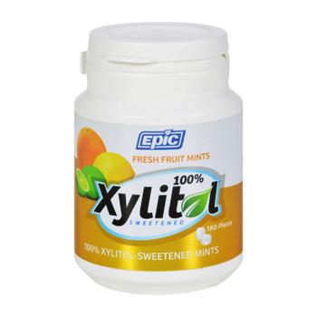 Epic Dental - Xylitol Mints - Fruit Xylitol Bottle - 180 Ct
