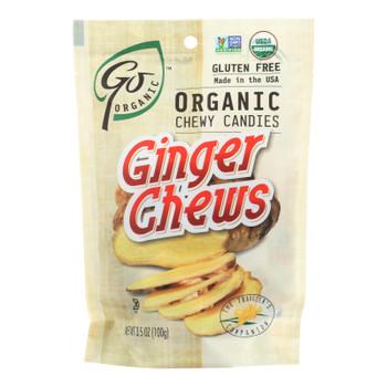 Go Organic Ginger Chews - 3.5 Oz - Case Of 6