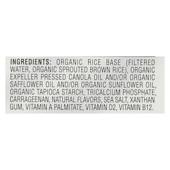 Dream Organic Unsweetened Sprouted Rice Drink - Case Of 6 - 32 Fl Oz.