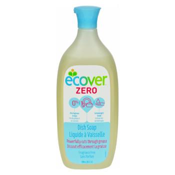 Ecover Dish Soap - Liquid - Zero - Fragrance Free - 25 Fl Oz - 1 Case