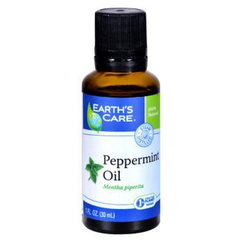 Earth's Care Essential Oil - 100 Percent Pure - Natr - Peppermint - 1 Fl Oz