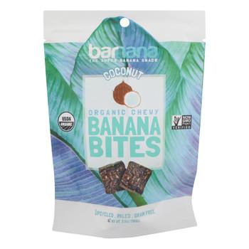 Barnana Chewy Banana Bites - Organic Coconut - Case Of 12 - 3.5 Oz.
