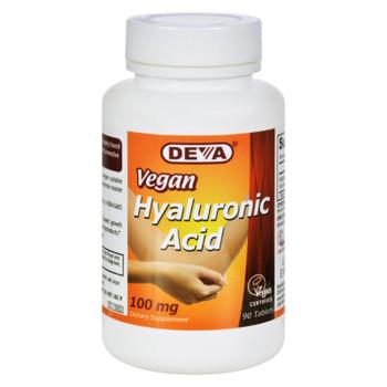 Deva Vegan Vitamins - Hyaluronic Acid - 100 Mg - Vegan - 90 Tablets