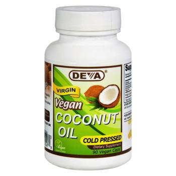 Deva Vegan Vitamins - Coconut Oil - Vegan - 90 Vegan Capsules