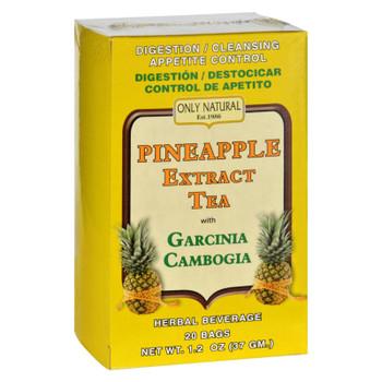Only Natural Tea - Pineapple Extract - Garcinia Cambogia - 20 Tea Bags