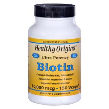Healthy Origins Biotin - 10000 Mcg - 150 Vcaps