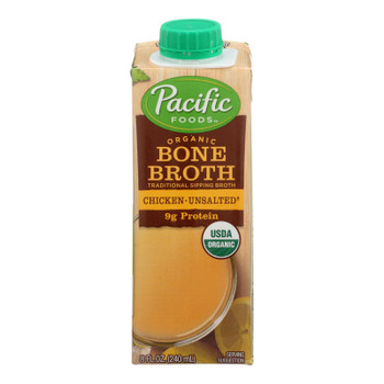 Pacific Natural Foods Bone Broth - Chicken - Case Of 12 - 8 Fl Oz.