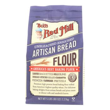 Bob's Red Mill - Artisan Bread Flour - 5 Lb - Case Of 4