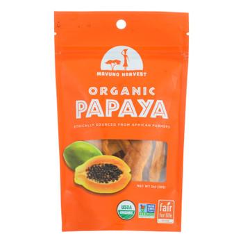 Mavuno Harvest Organic Dried Fruits - Papaya - Case Of 6 - 2 Oz.