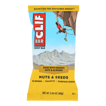 Clif Bar - Nuts & Seeds - Almonds Peanuts Pumpkin Seed - Case Of 12 - 2.4 Oz