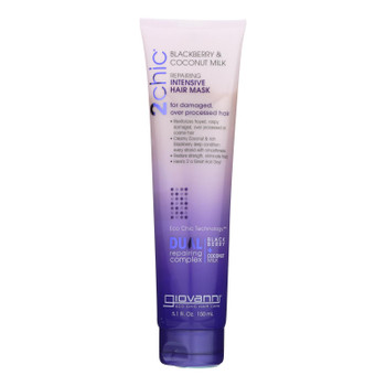 Giovanni Hair Care Products Hair Mask - 2chic - Repairing Intensive - Blackberry And Coconut Milk - 5.1 Oz - 1 Each