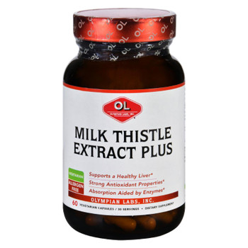Olympian Labs Milk Thistle Extract - Plus - 60 Vegetarian Capsules