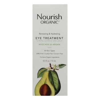 Nourish Organic Eye Treatment Cream - Renewing And Cooling - Avocado And Argan Oil - .5 Oz