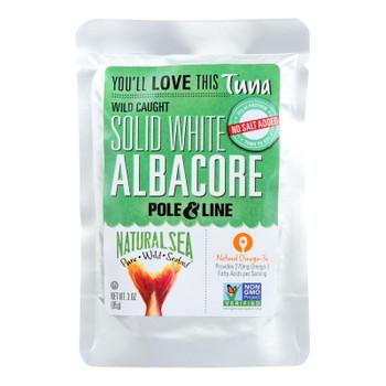 Natural Sea Wild Albacore Tuna Pouch, Unsalted, Solid White - Case Of 12 - 3 Oz