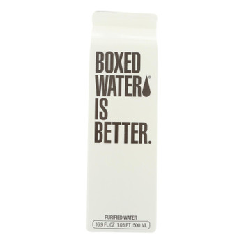 Boxed Water Is Better - Purified Water - Case Of 24 - 16.9 Fl Oz.