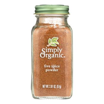 Simply Organic Five Spice Powder - Case Of 6 - 2.01 Oz.
