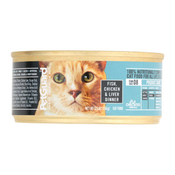 Petguard Cats Food - Fish Chicken And Liver - Case Of 24 - 5.5 Oz.