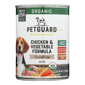 Petguard Dog Foods - Organic Chicken And Vegetable - Case Of 12 - 12.7 Oz.