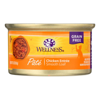 Wellness Pet Products Cat Food - Chicken Recipe - Case Of 24 - 3 Oz.