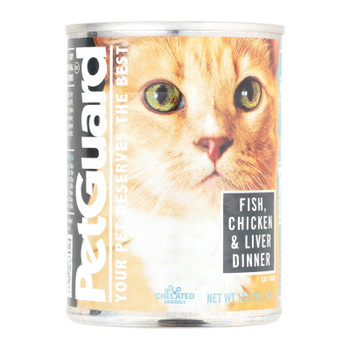 Petguard Cats Food - Fish Chicken And Liver - Case Of 12 - 13.2 Oz.