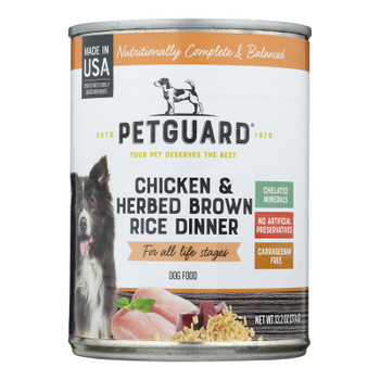 Petguard Dog Foods - Chicken And Herbed Brown Rice - Case Of 12 - 13.2 Oz.