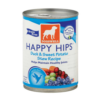 Dogs Well Happy Hips Duck And Sweet Potato Stew Dog Food - Case Of 12 - 13 Oz.
