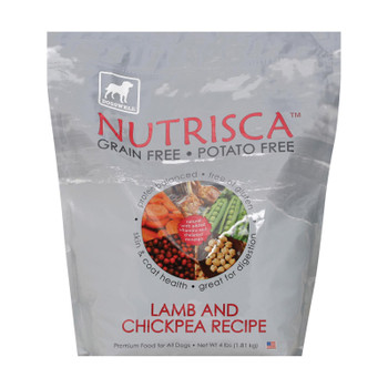 Dogs Well Nutrisca Lamb And Chickpea Dog Food - Case Of 6 - 4 Lb.