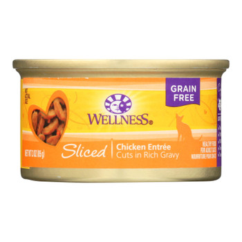 Wellness Pet Products Cat Food - Sliced Chicken Entree - Case Of 24 - 3 Oz.