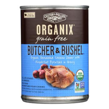 Castor And Pollux Organic Butcher And Bushel Dog Food - Shredded Chicken - Case Of 12 - 12.7 Oz.