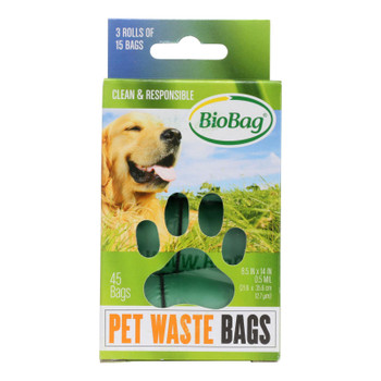 Biobag - Dog Waste Bags - Case Of 12 - 45 Count