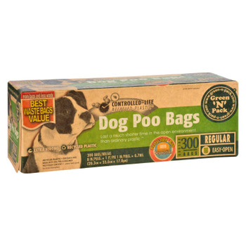 Eco-friendly Bags Green N Pack Dog Poo Bags - Litter Pick Up - 300 Bags - 1 Count