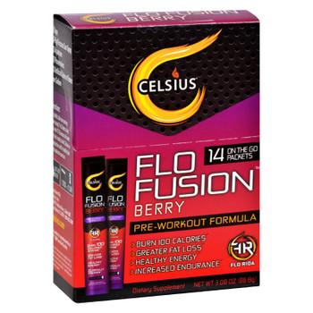 Celsius Flo Fusion - Powder Sticks - Berry - 14 Packets