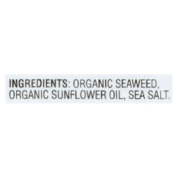 Gimme Seaweed Snacks Organic Roasted Seaweed Snack - Sea Salt - Case Of 8 - 6/.17 Oz