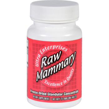 Ultra Glandulars Mammary - Raw - 60 Tablets
