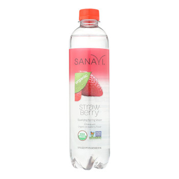 Sanavi Sparkling Spring Water - Strawberry - Case Of 12 - 17 Fl Oz.