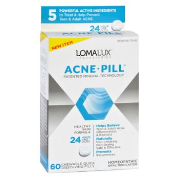 Loma Lux Laboratories Acne Pill - Chewable - Quick Dissolving - 60 Count