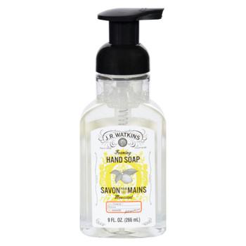 J.r. Watkins Hand Soap - Foaming - Lemon - 9 Oz - Case Of 6