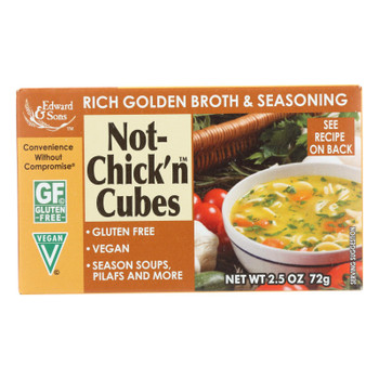 Edwards And Sons Natural Bouillon Cubes - Not Chick N - 2.5 Oz - Case Of 12