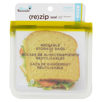 Blue Avocado - Lunch Bag - Re-zip Seal - Green - 2 Pack